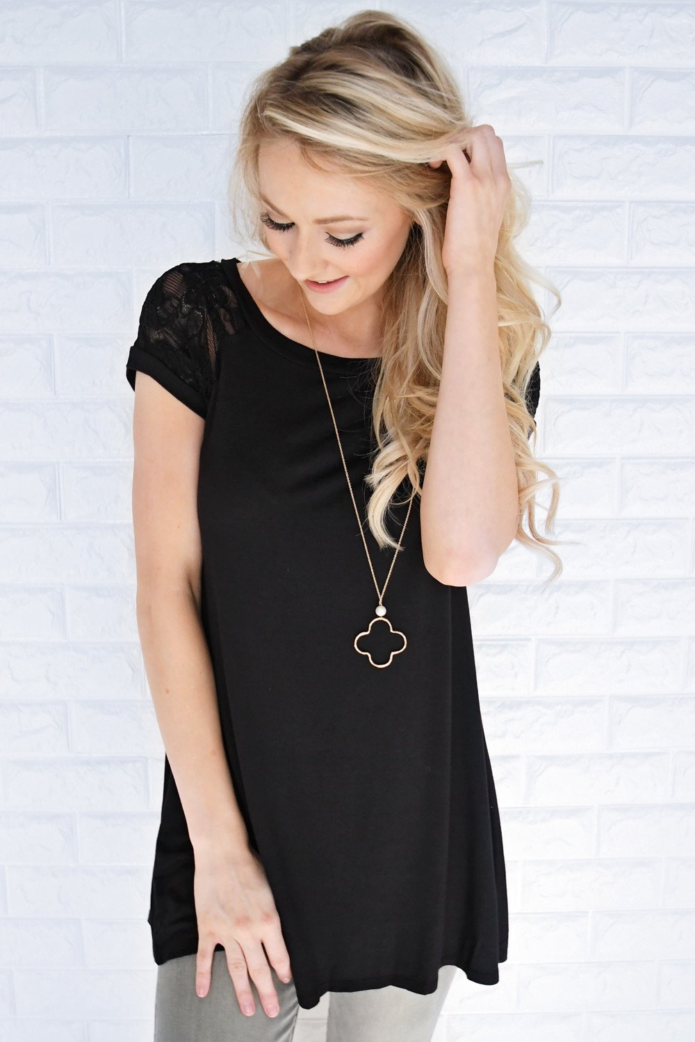 My Favorite Lace Top ~ Black