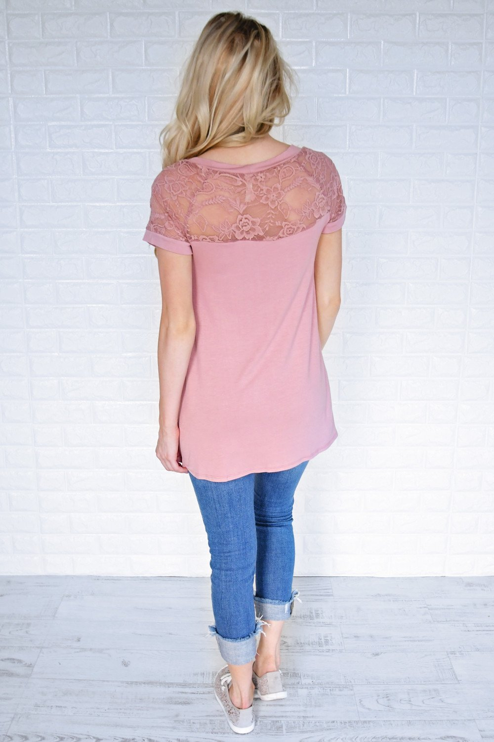 My Favorite Lace Top ~ Soft Mauve
