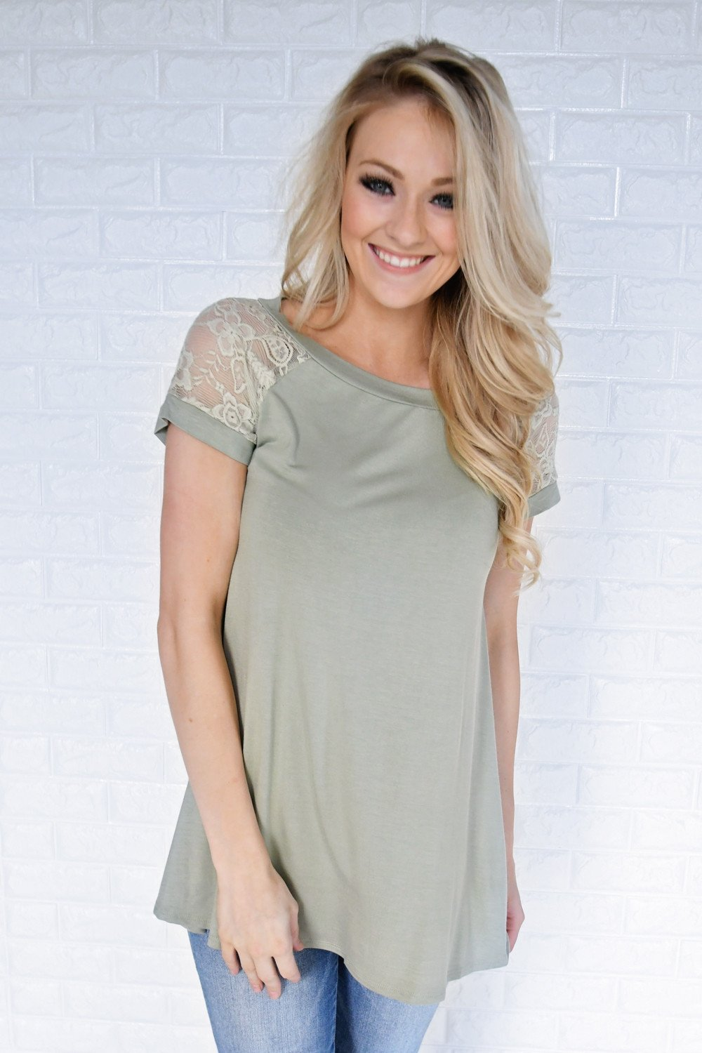 My Favorite Lace Top ~ Light Green