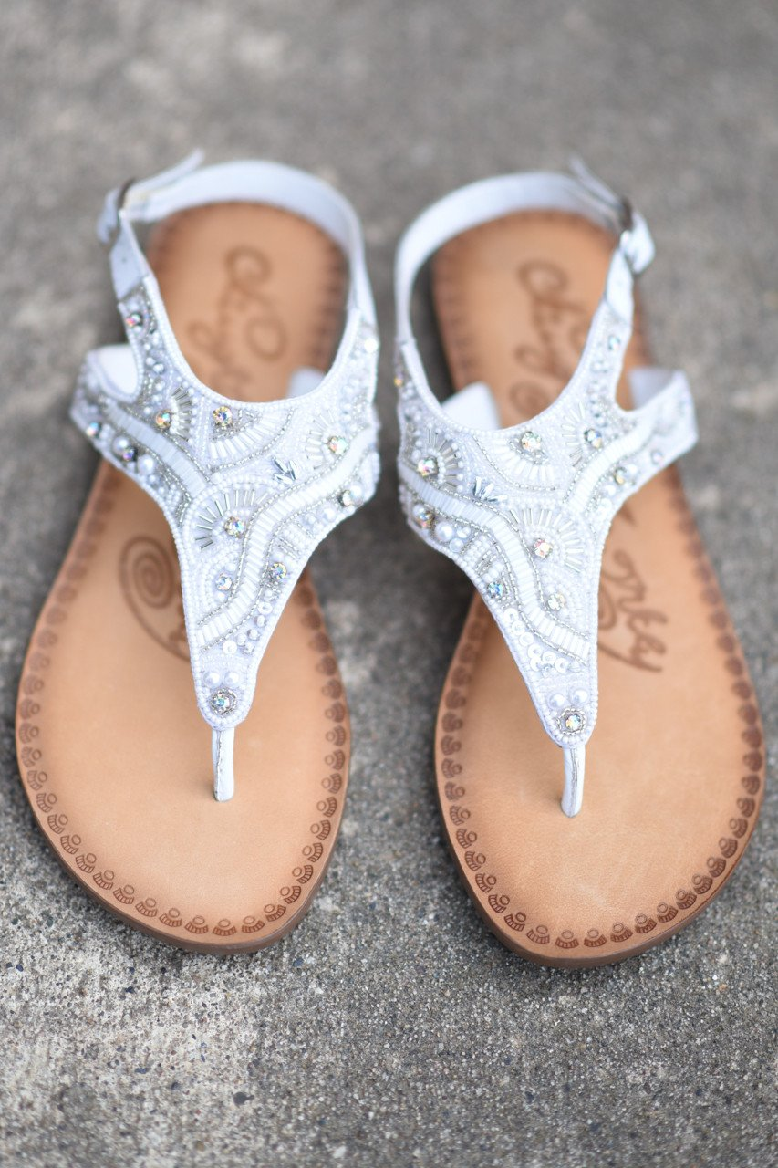 Adeley White Sandals