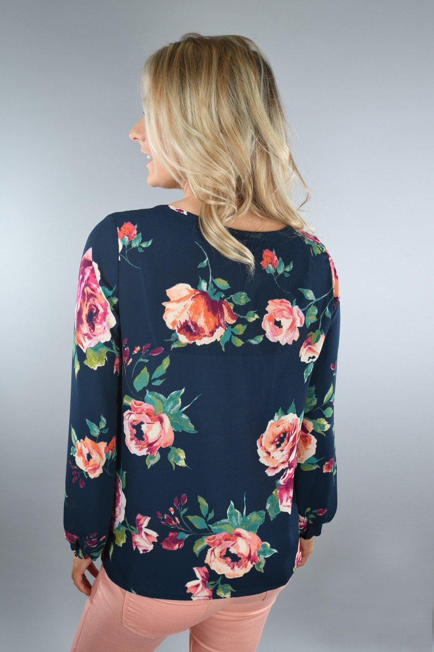 Everly ~ Love the Little Things Floral Top