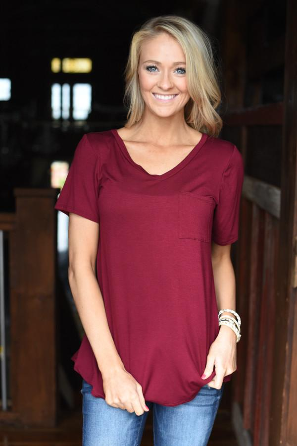 Essential Wine Top ~ Short Sleeve