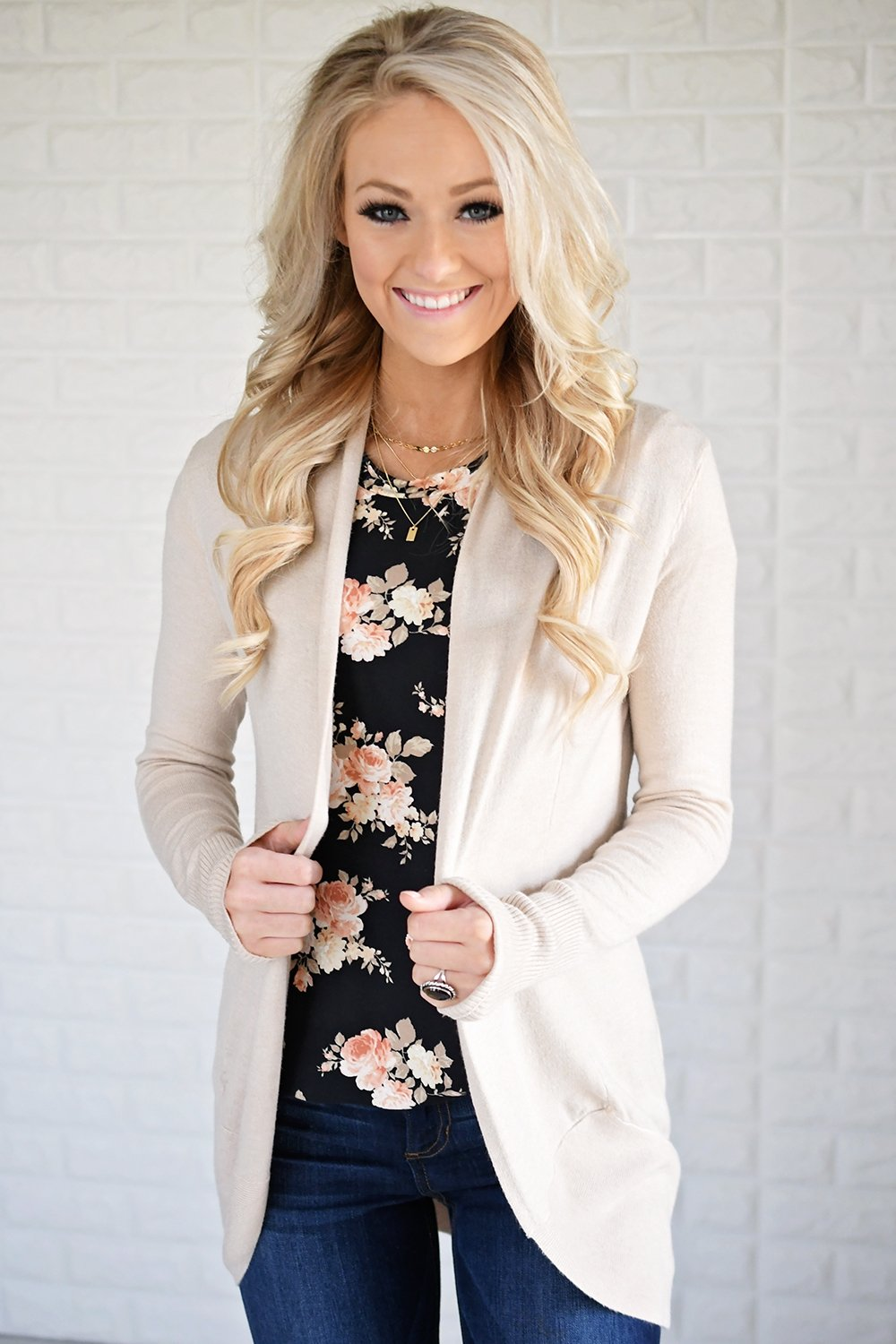 Cream Drape Cardigan