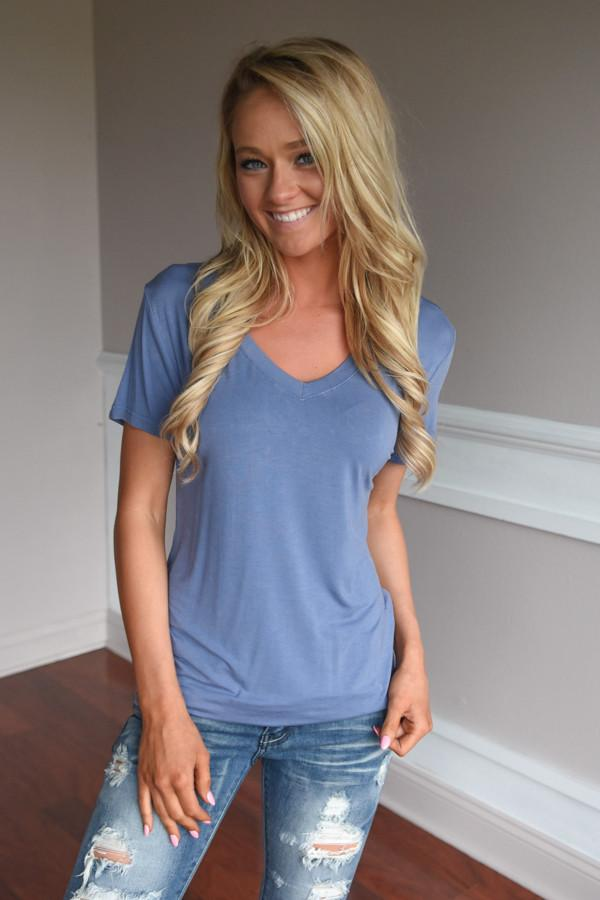 Run the World Pocket Tee ~ Blue