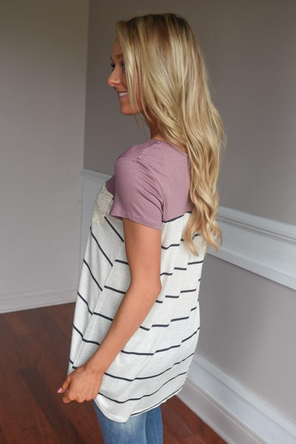 Soft and Sweet Top ~ Mauve