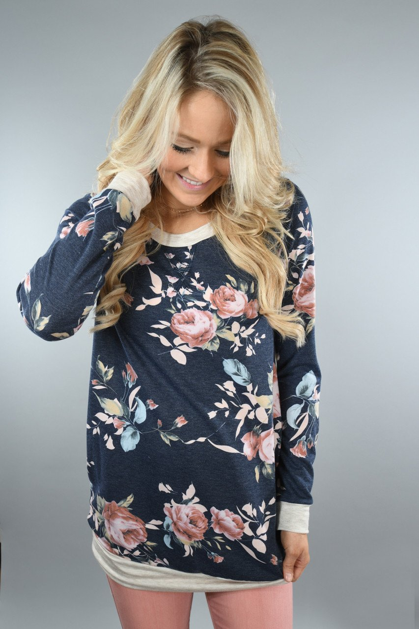 Color Me Floral ~ Navy