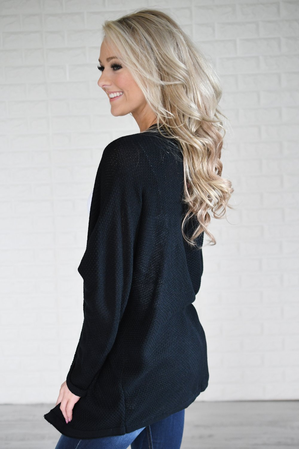 Knit Black Cardigan