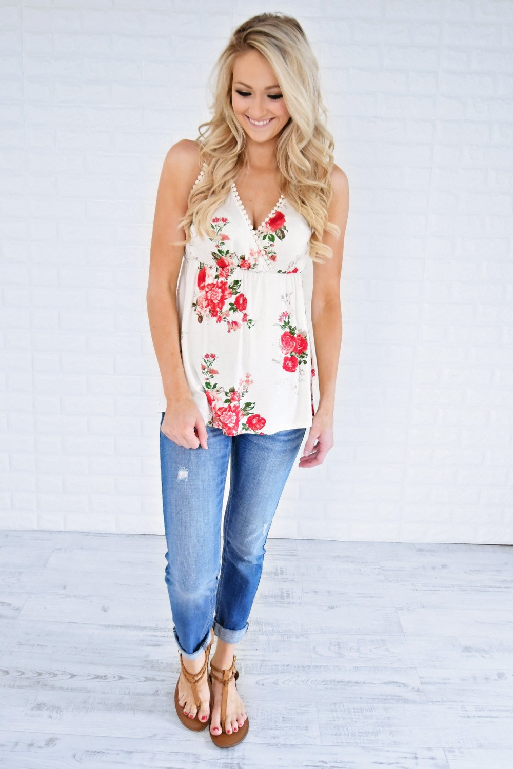 Bourbon Rose Tank Top