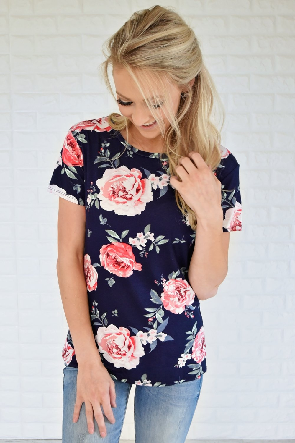 Waiting For a Floral Like You ~ Navy