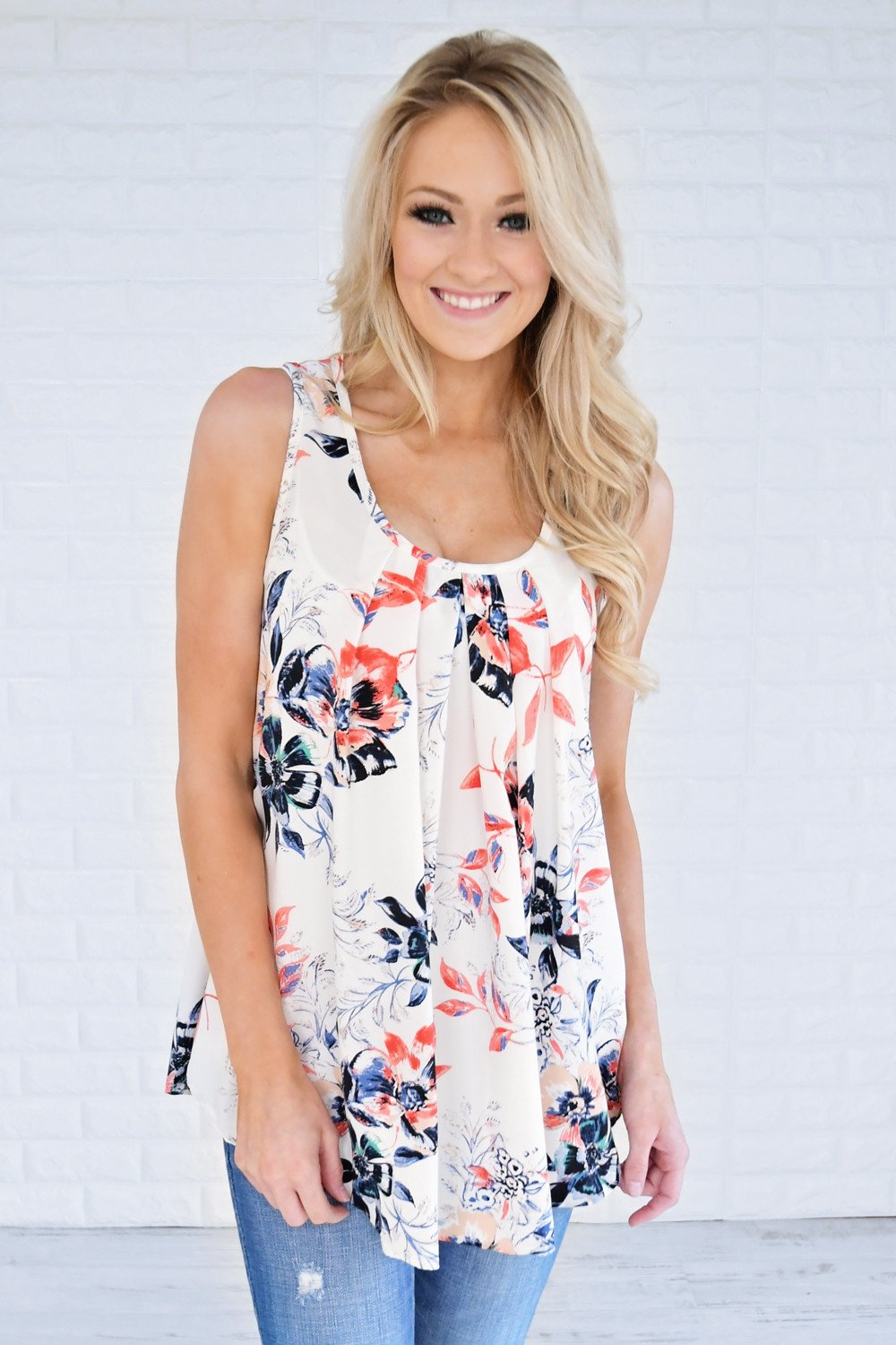 Take Your Time Floral Tank Top