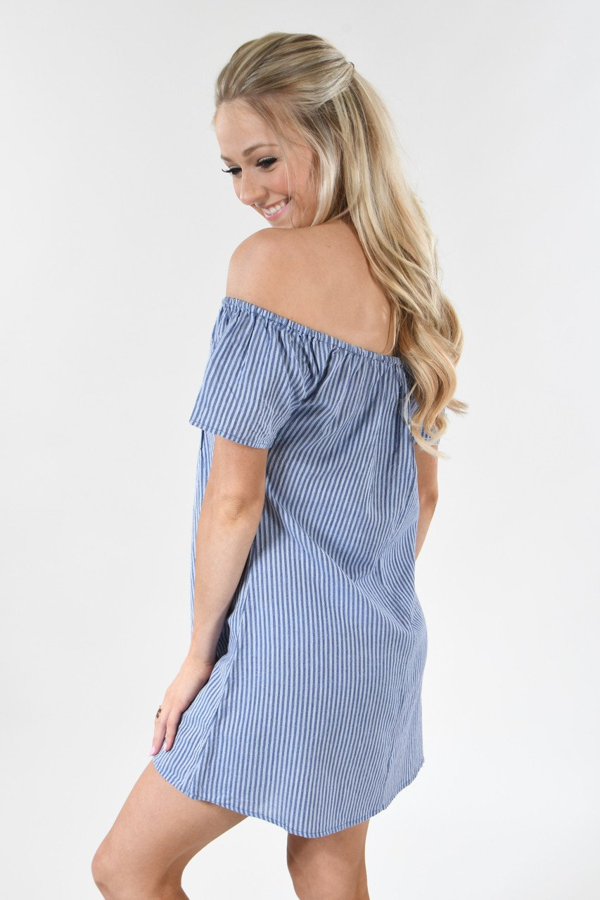 Anchors Away Striped Dress