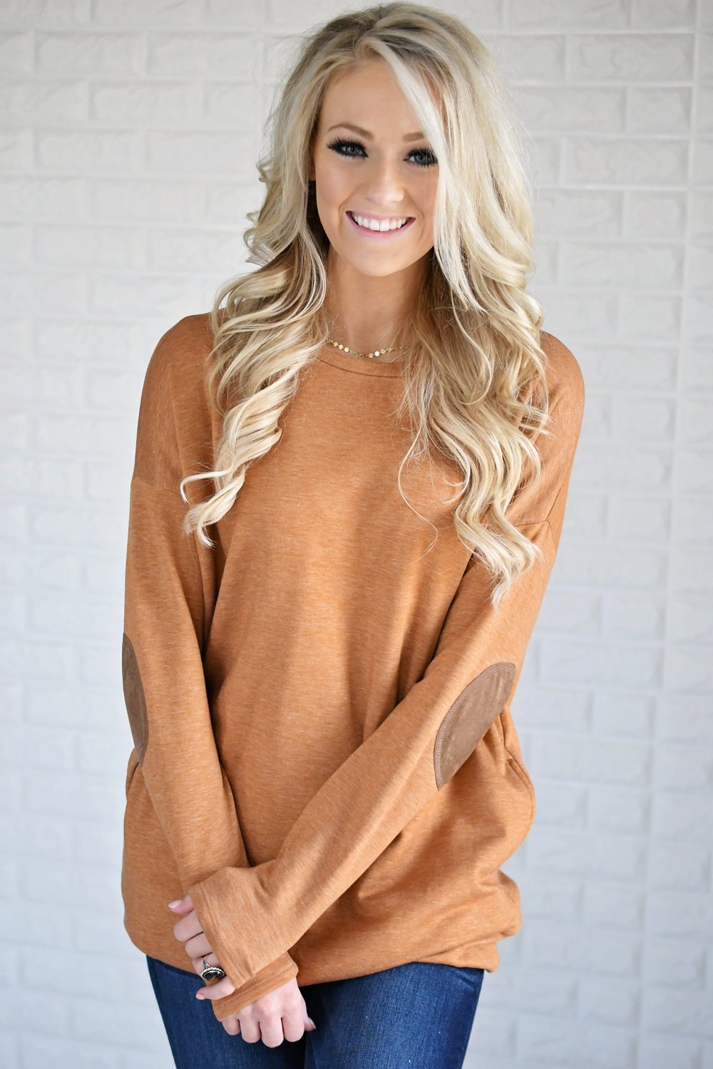 Mustard Elbow Patch Sweater