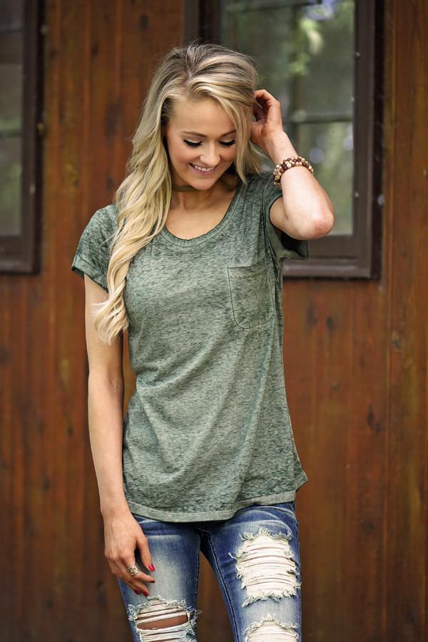 Casual Comfort - Olive Tee