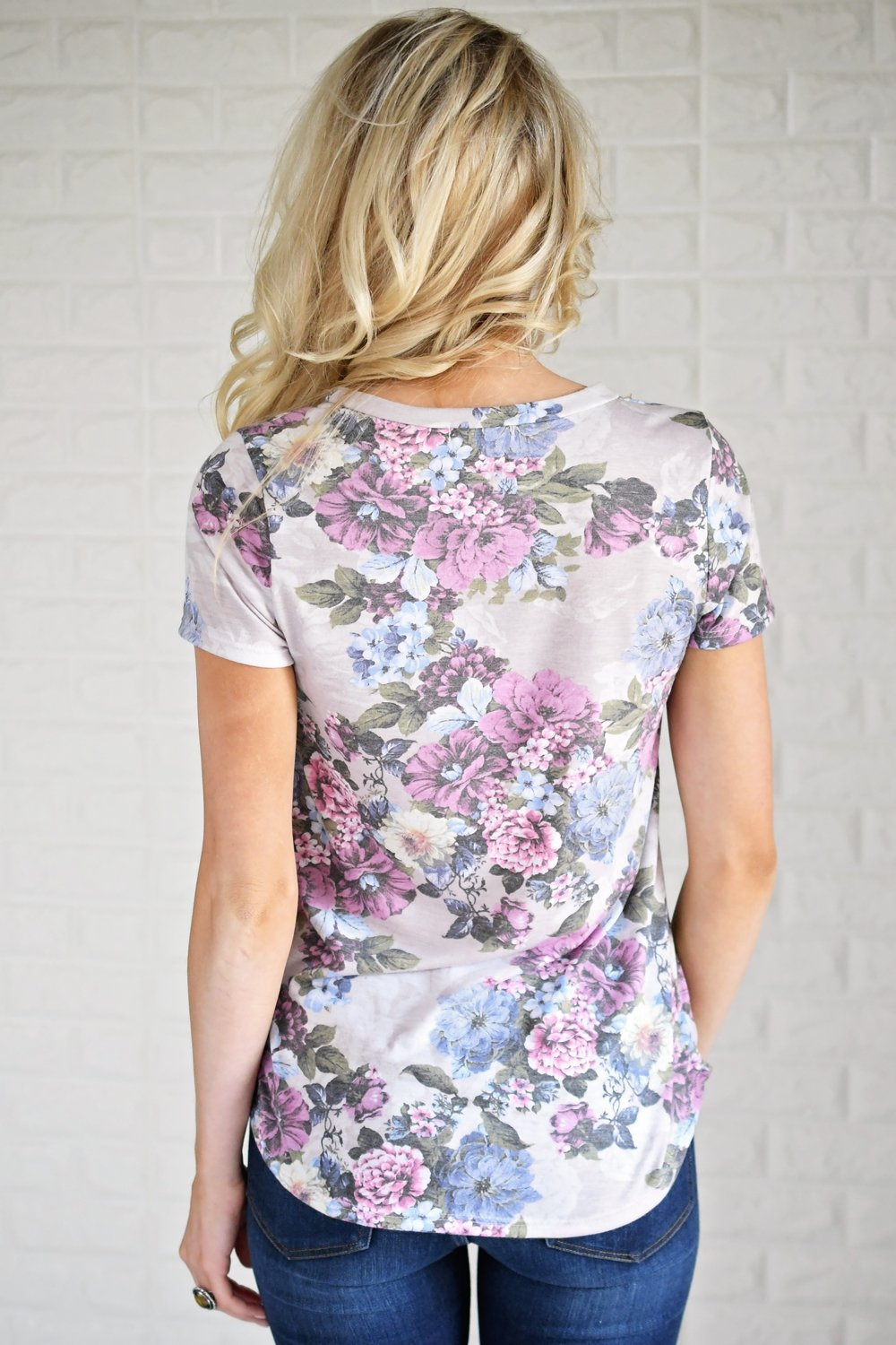 Stuck in the Moment Violet Floral Top