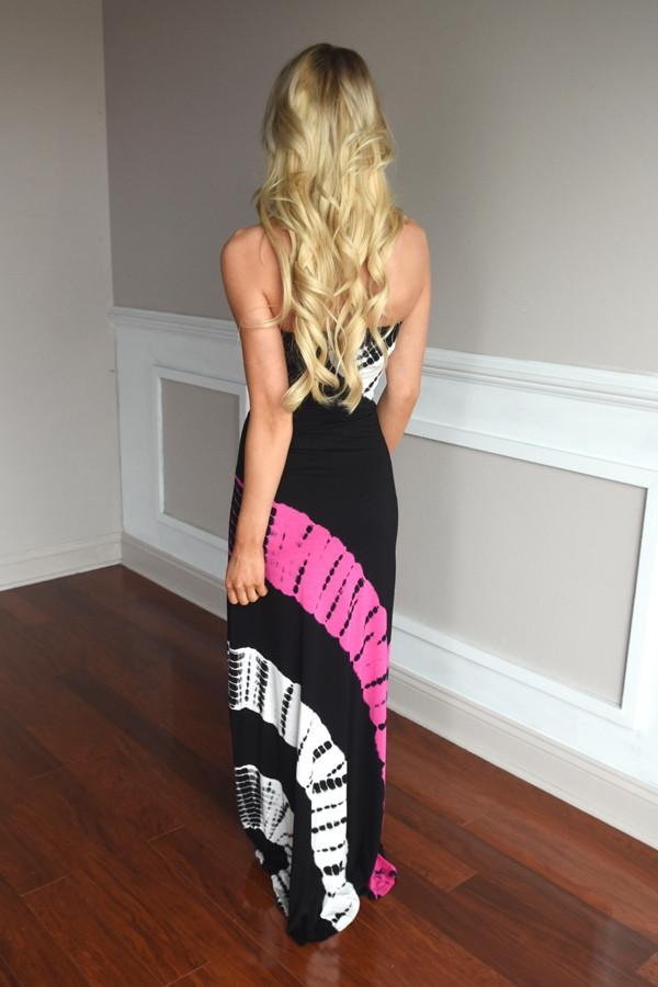 Swirls of Color Maxi Dress