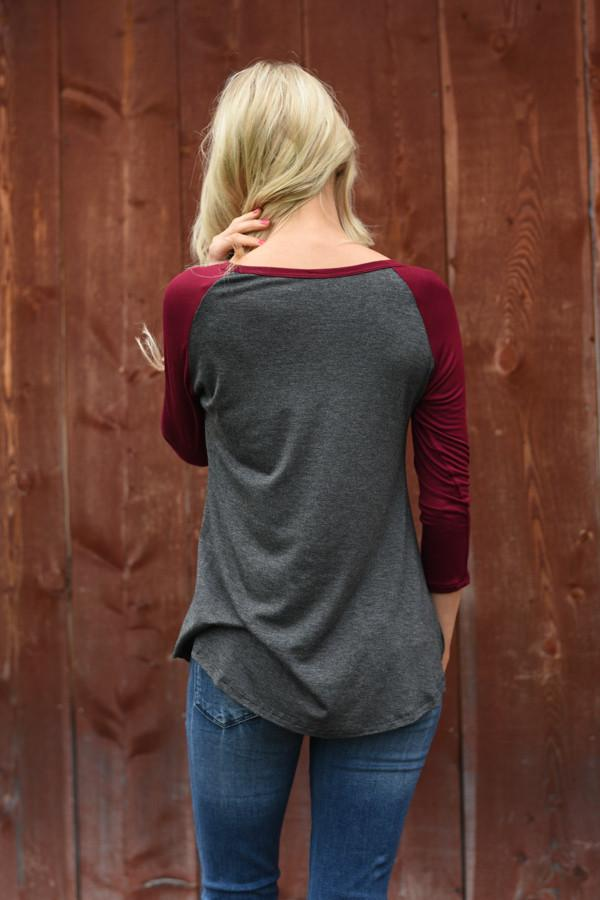 Faith 3/4 Sleeve Top