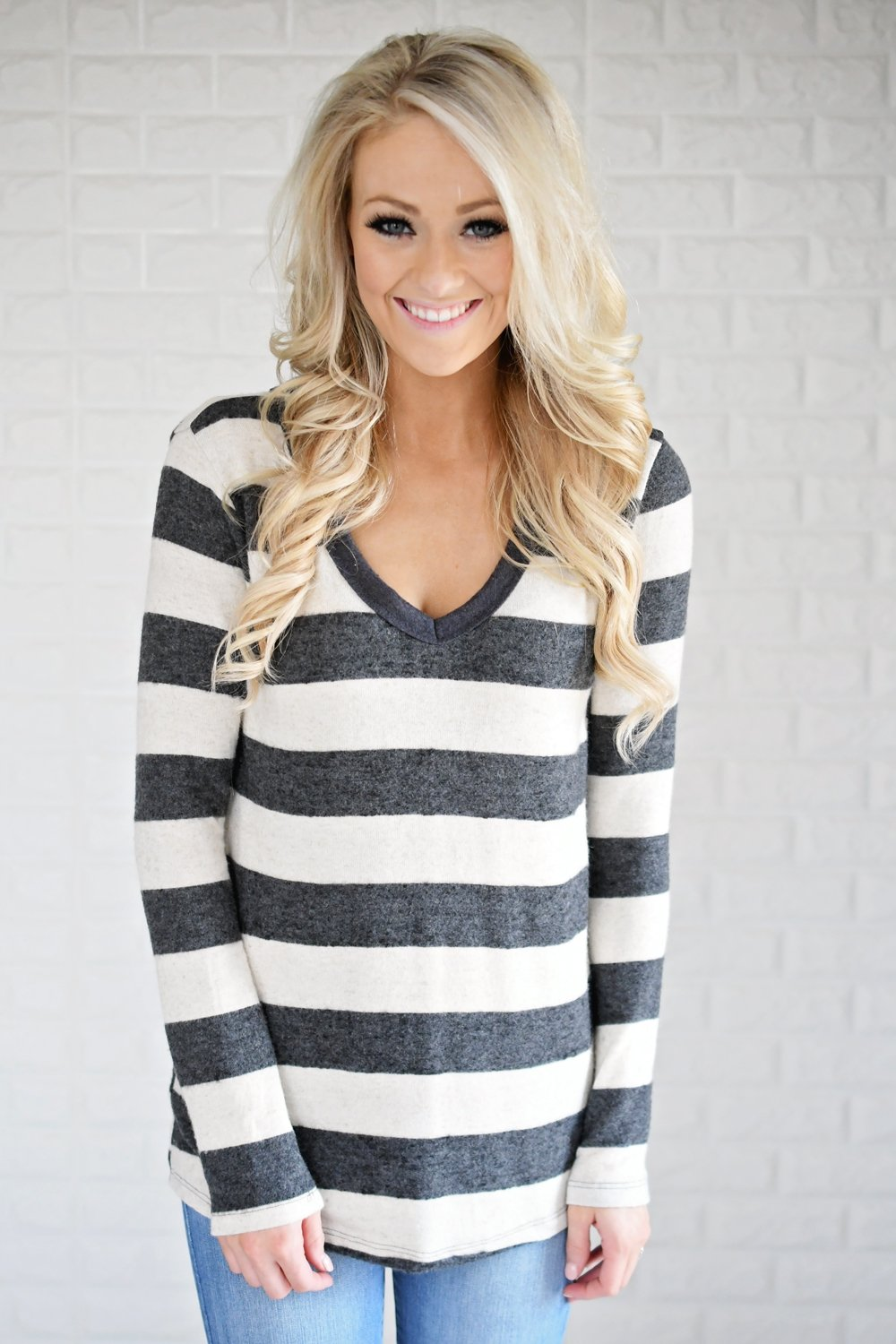 Take Chances Striped Top