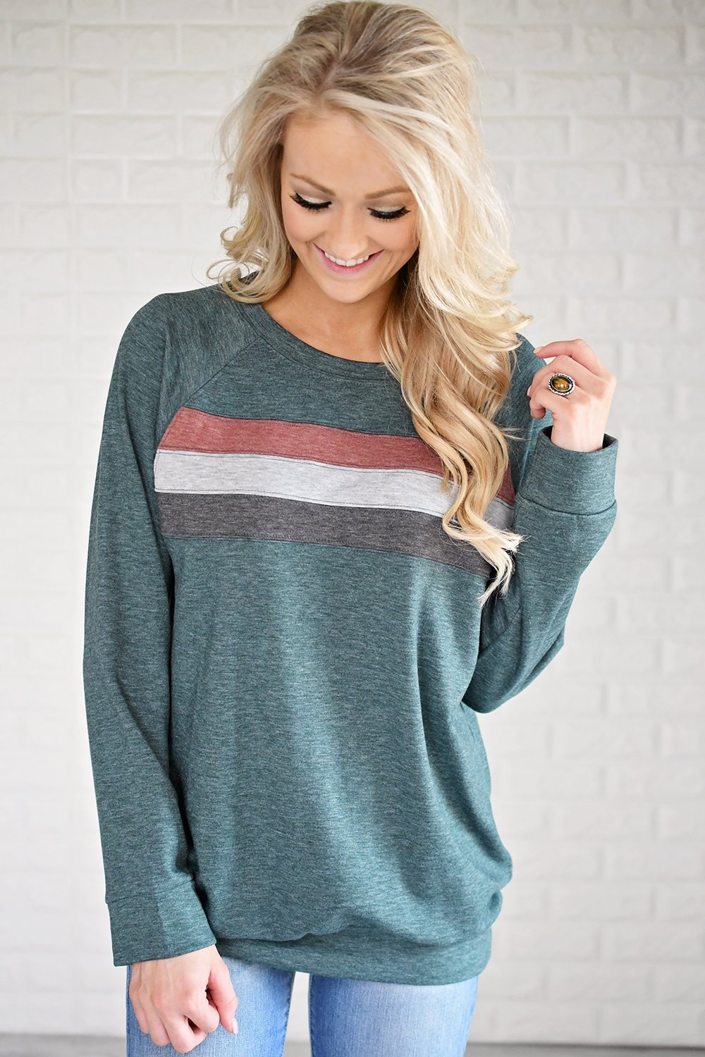 Stripes by the Fireside ~ Deep Teal