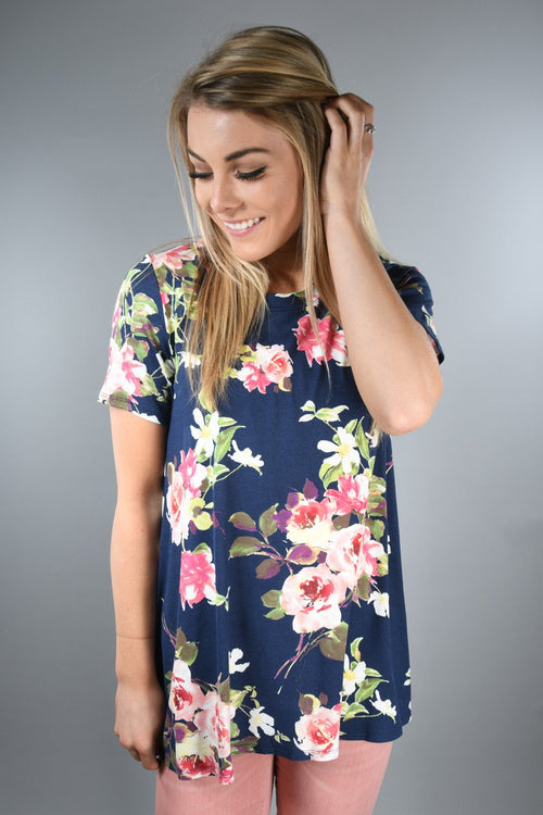 Here Comes the Fun Short Sleeve ~ Navy