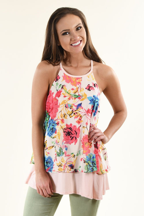 Flaunt Your Floral Tank Top