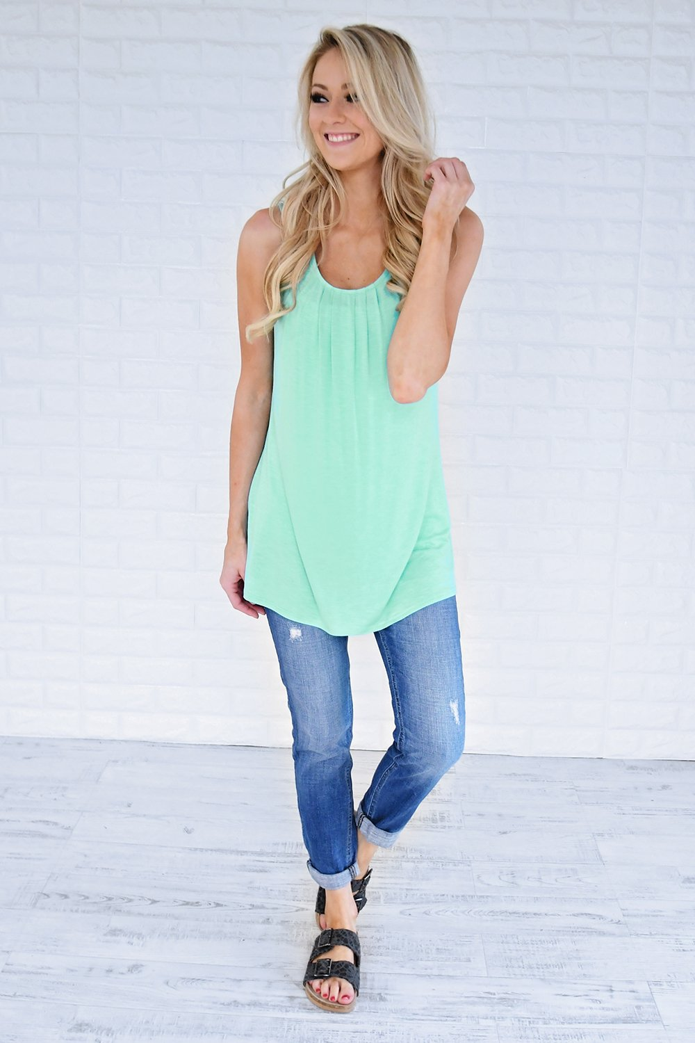 Simply Irresistible Tank Top ~ Mint