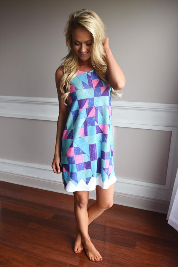Colored Diamonds Dress