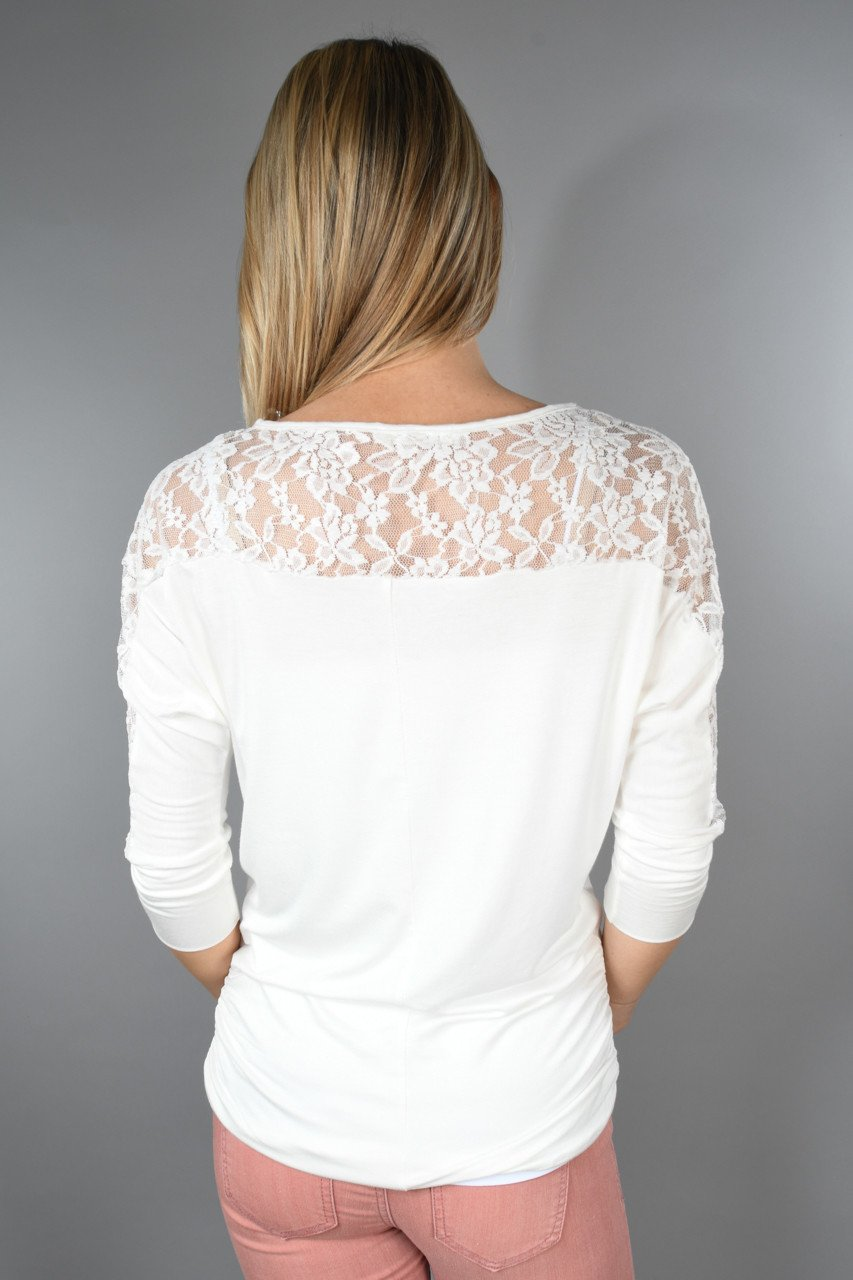 America's Sweetheart Lace Top ~ Ivory
