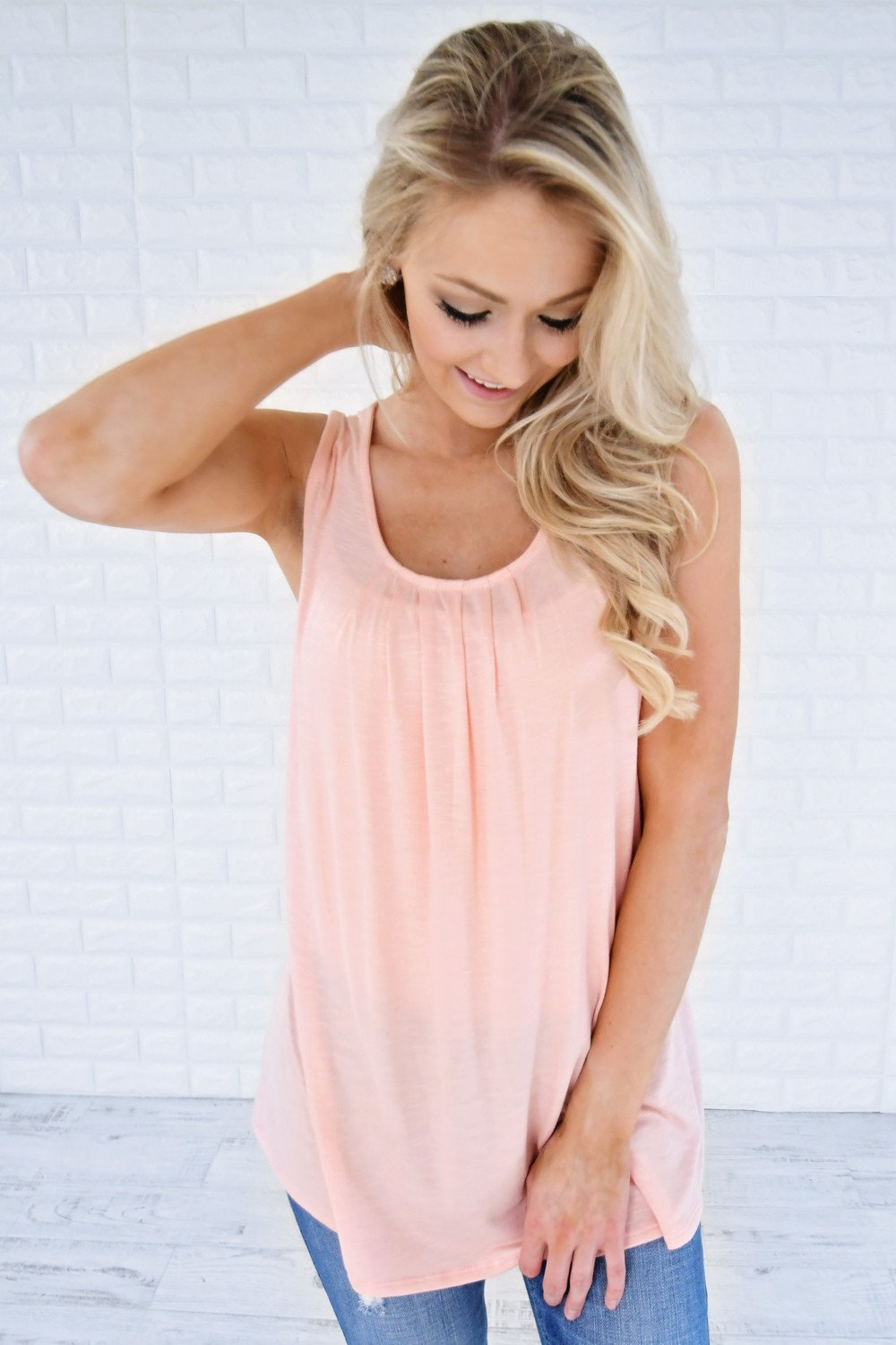 ef9b93b19392c Simply Irresistible Tank Top ~ Pink – The Pulse Boutique