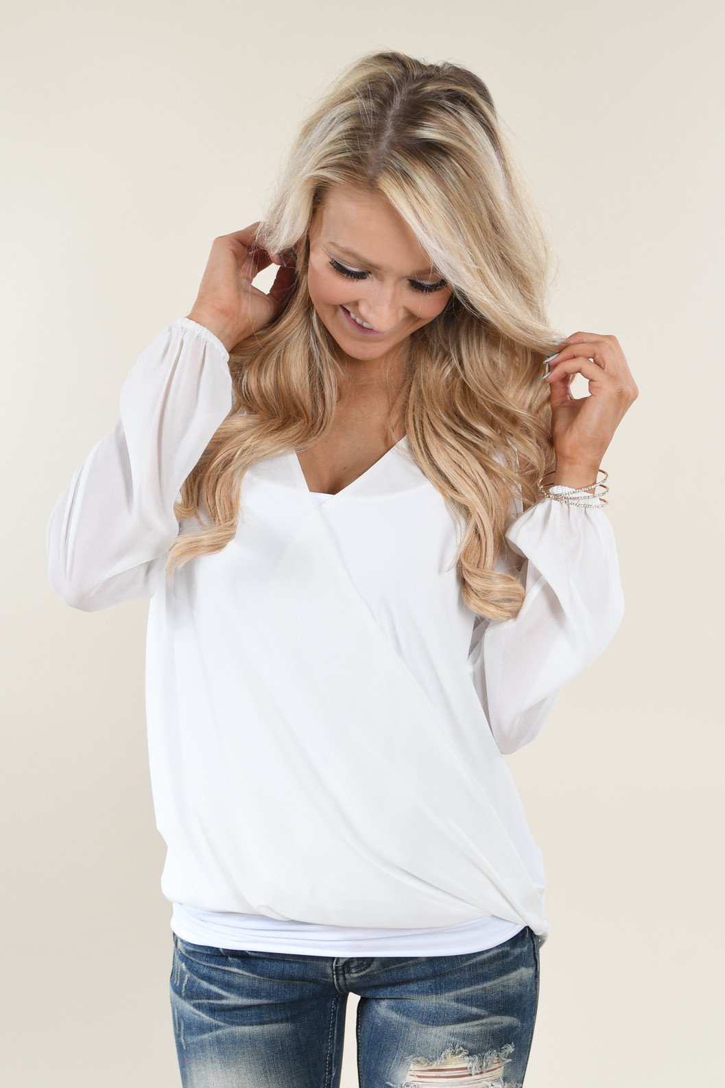 Perfection Blouse ~ White