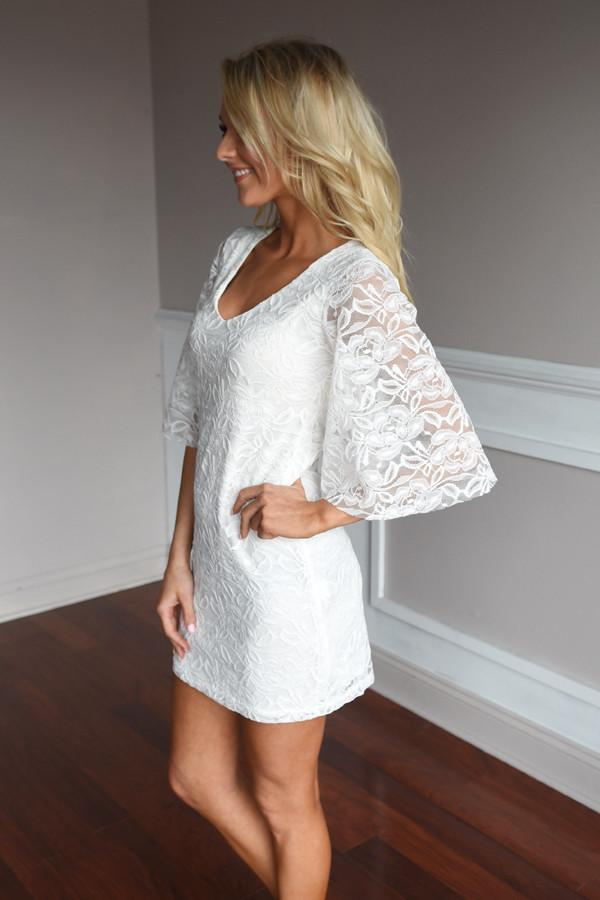 Keep Me Close Dress ~ Ivory