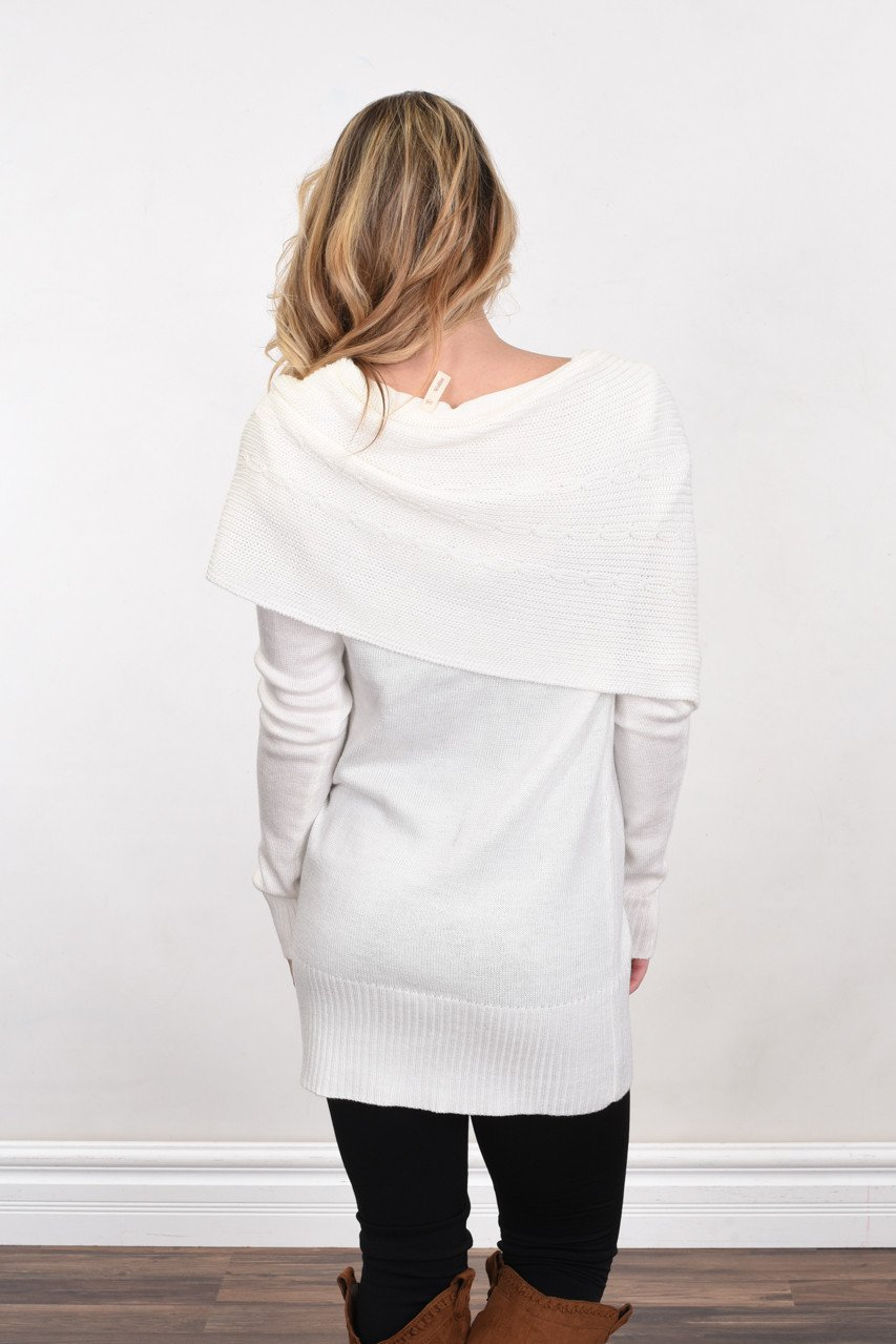 Wrapped Up in You Sweater ~ White