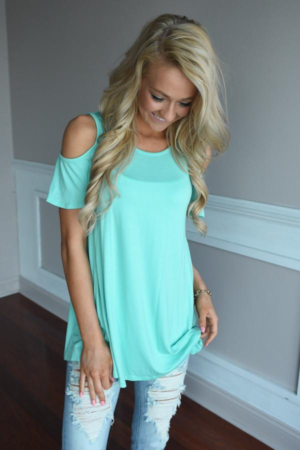 Fine Day Top ~ Turquoise