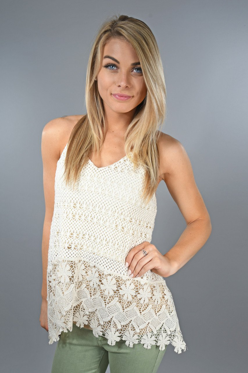 Cream Crochet Top – The Pulse Boutique