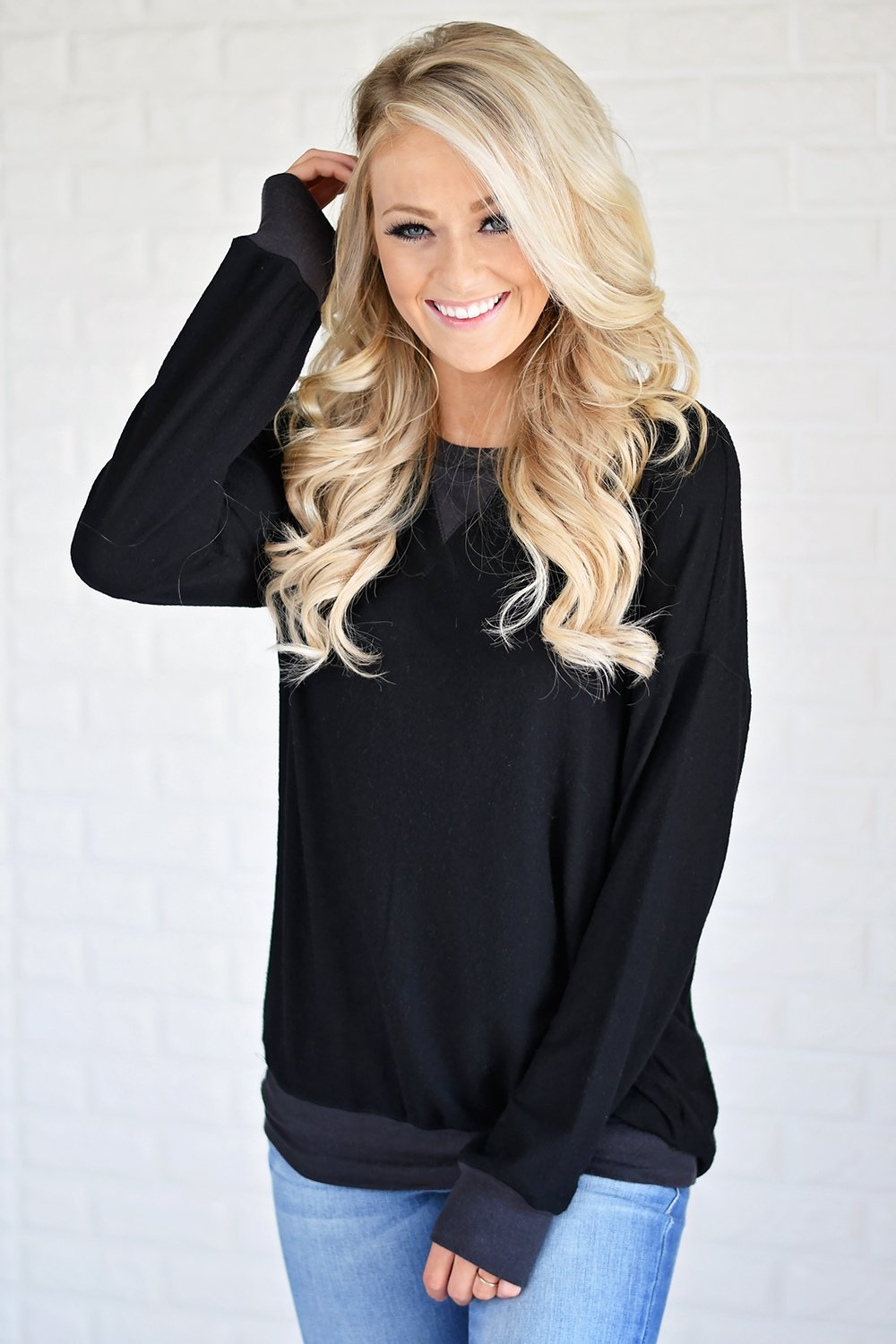 Fall for Cozy Top ~ Black