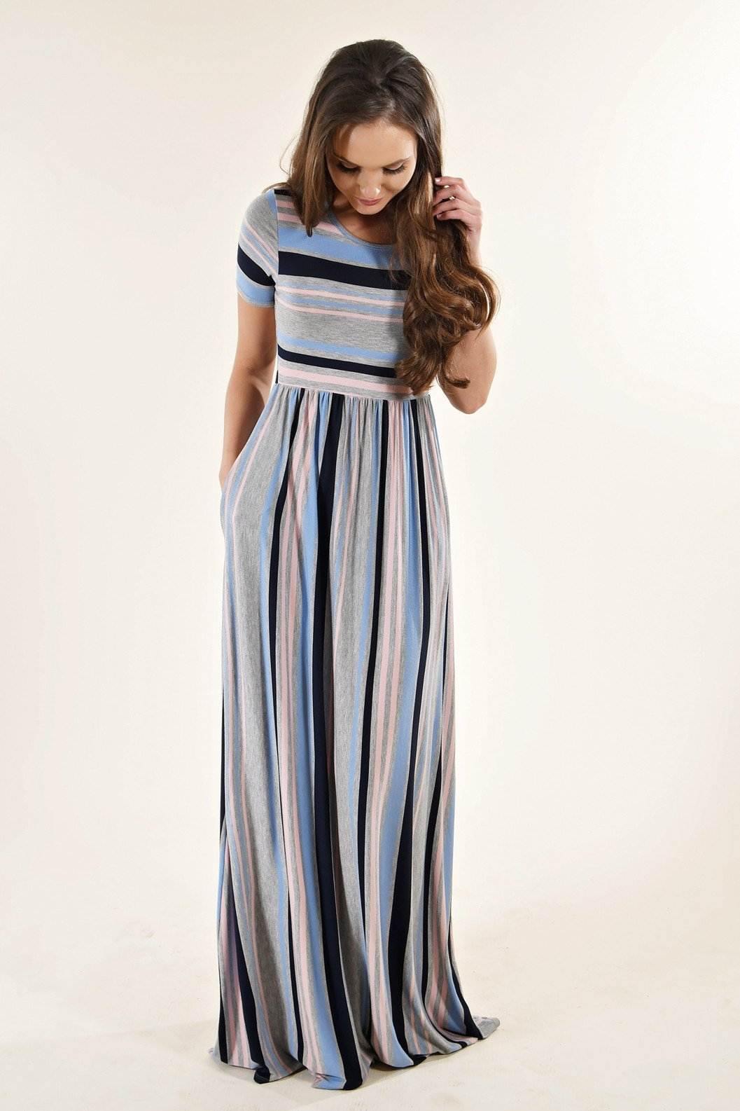 Mix'N'Match Striped Maxi Dress