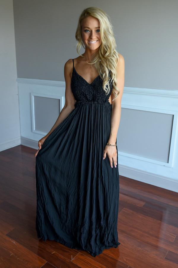 All Ruffled Up Maxi Dress ~ Black
