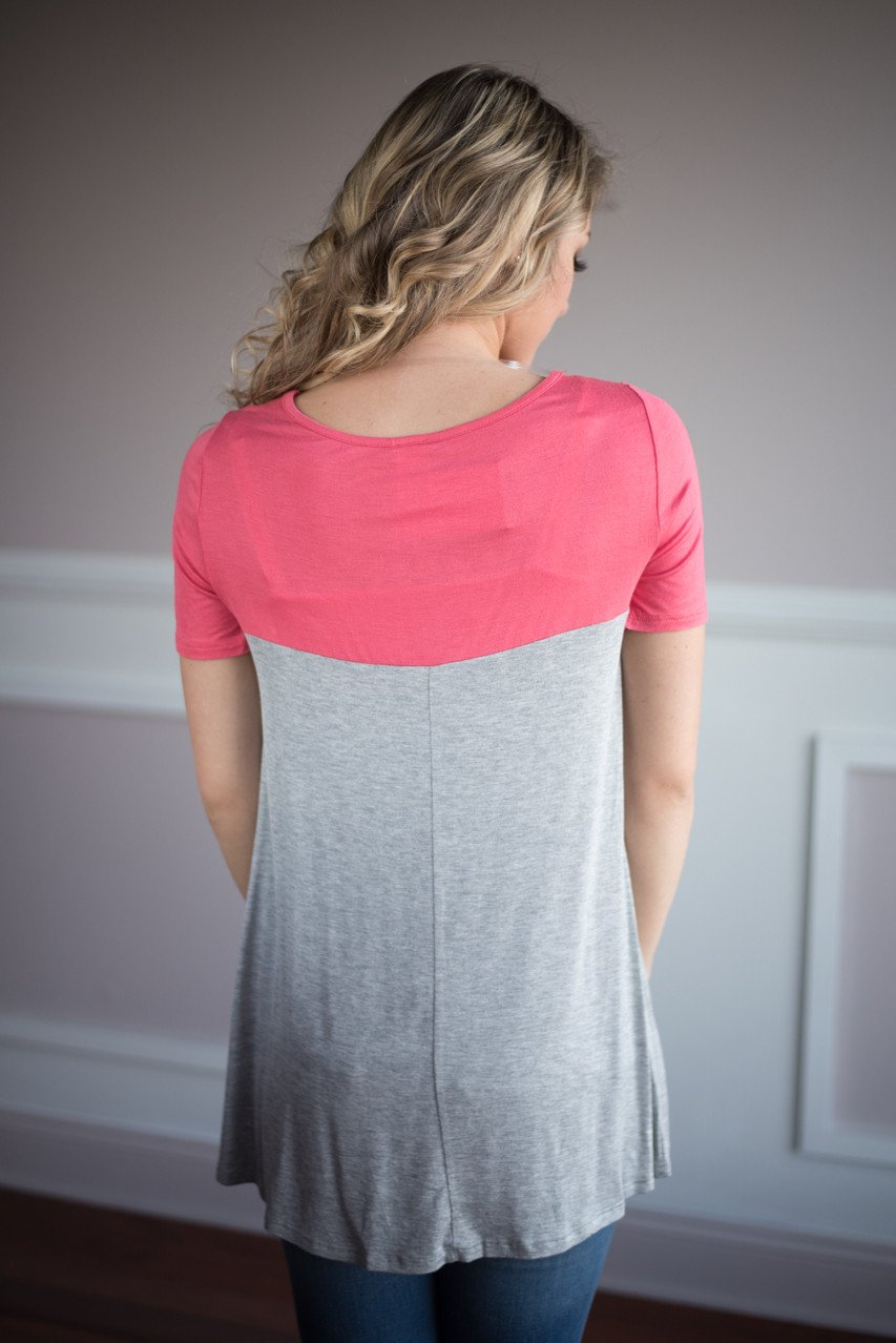 Coral Pocket Top