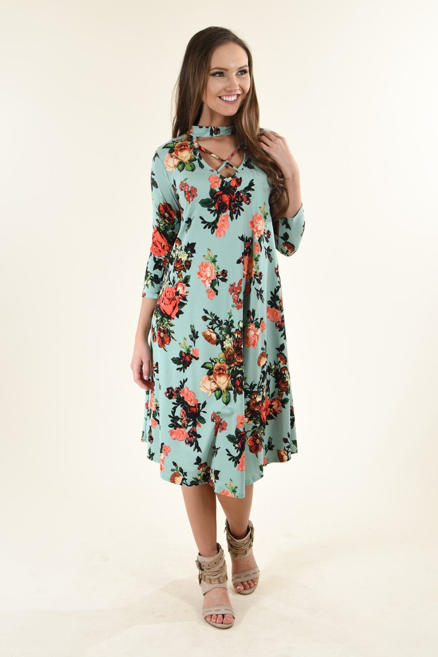 Fight For Me Dress ~ Dark Mint