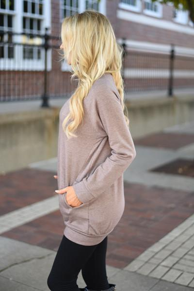 Cozy as a Bug in a Rug Top ~ Mocha