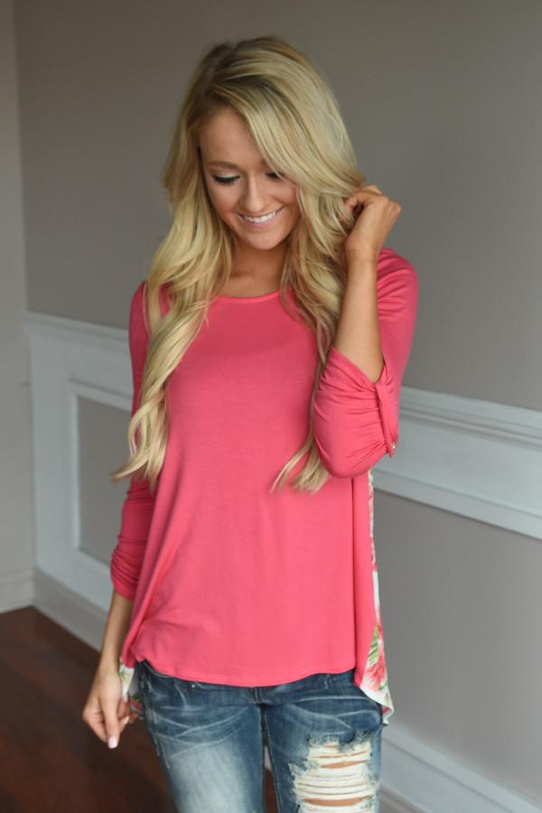 Passion Flower Top ~ Pink