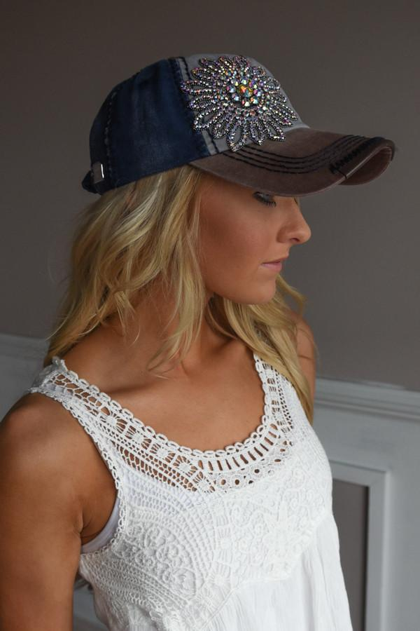 Glam Blue & Brown Baseball Cap