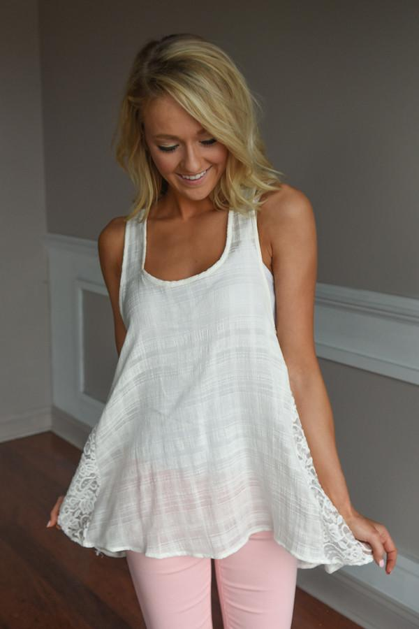 Always on My Mind Lace Tank