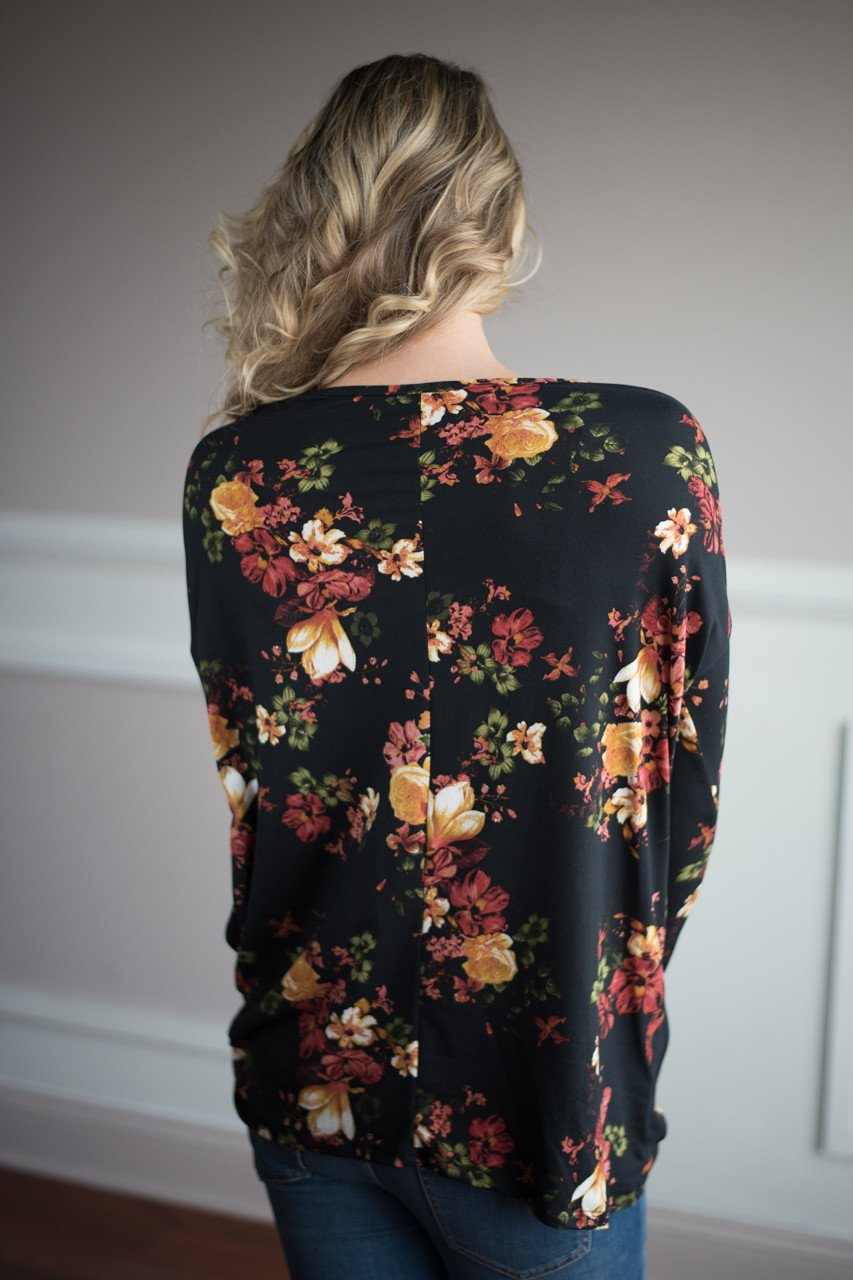 Knot Your Type Floral Top