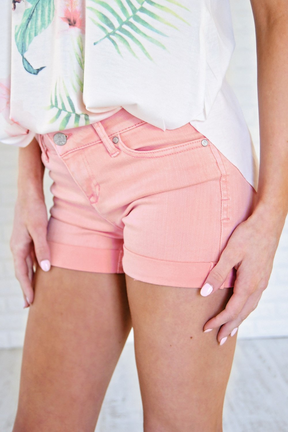 Calypso Shorts ~ Bubble Gum Pink