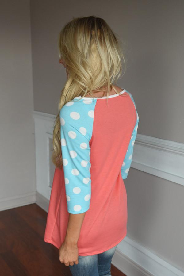 In the Groove Top ~ Coral