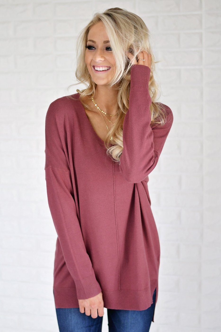 Hold On To Me Sweater ~ Burnt Sienna
