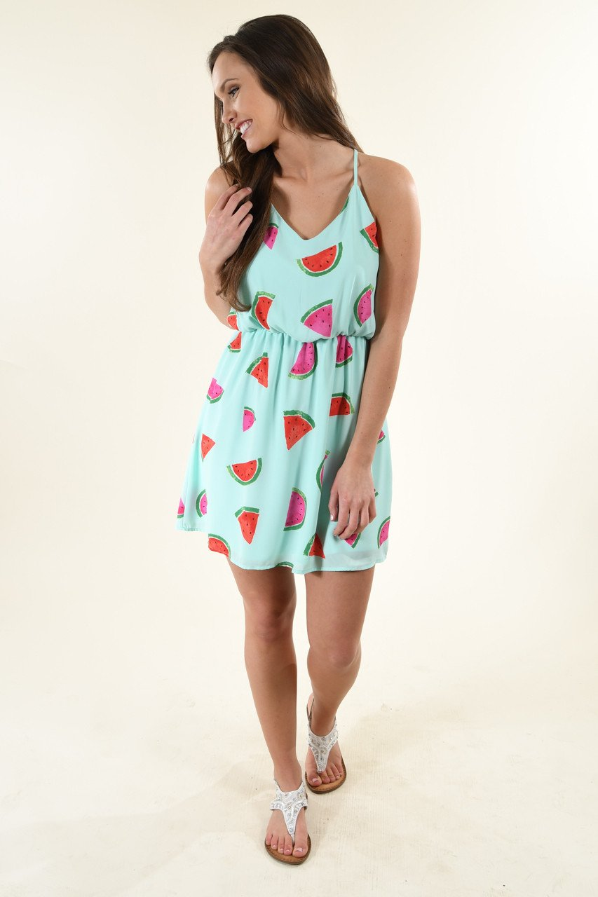 Watermelon Mint Dress