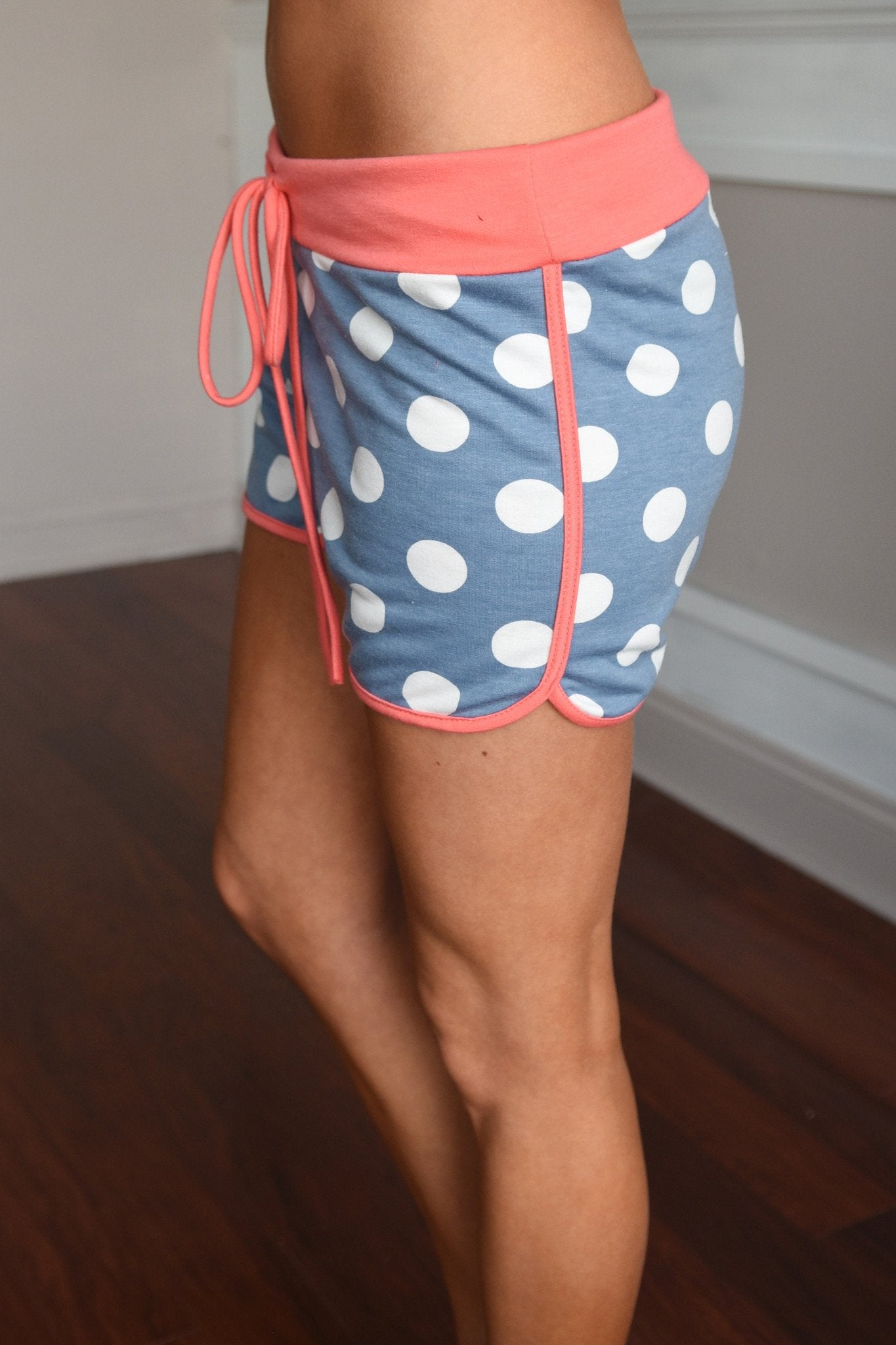 Coral/Blue Shorts