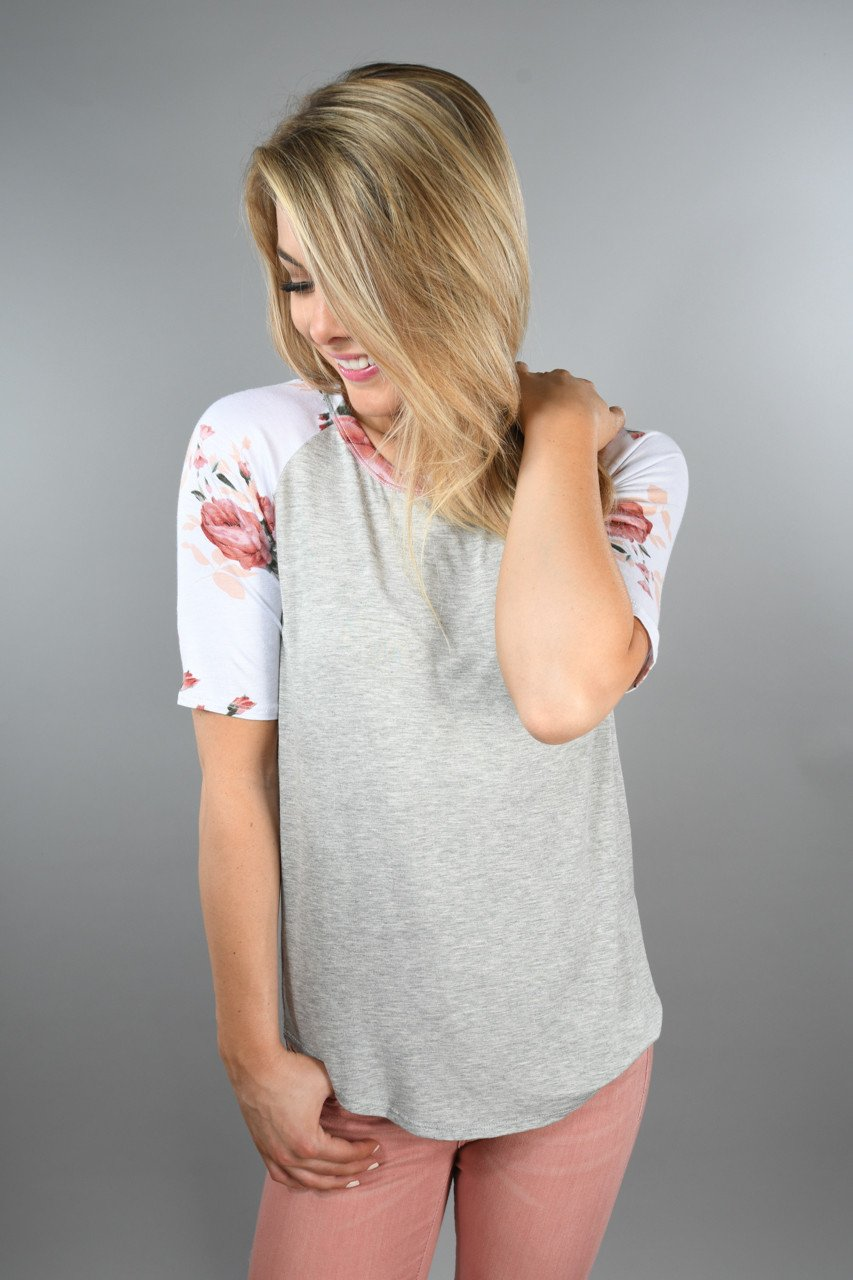 Dusty Coral Sleeve Top