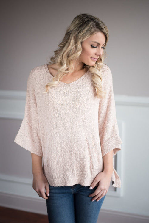 Sweet in Pink Sweater Top